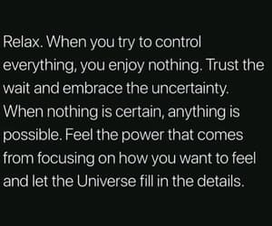 control, quote, and relax image