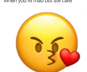 quote, emoji, and mad but love image