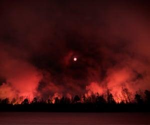 burning, woods, and world image