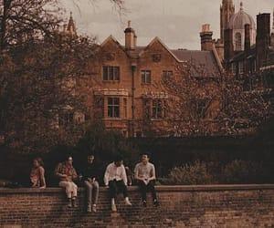 autumn, boarding school, and dark academia image