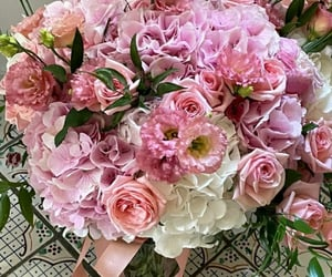 bouquet, flowers, and hydrangea image