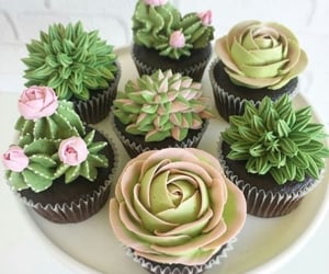 cactus, cactuses, and cupcakes image