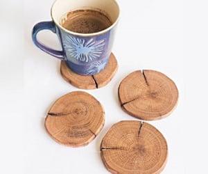 wooden coaster set image