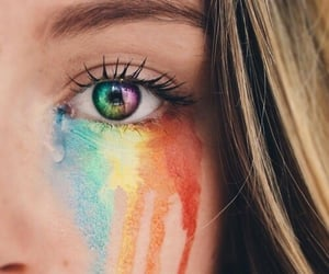colors, eyes, and rainbows image