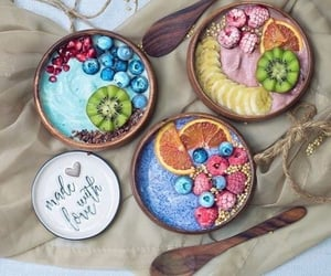 breakfast, colorful, and smoothie bowl image