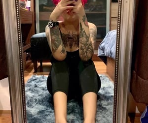 90s, rock, and tattoo girl image