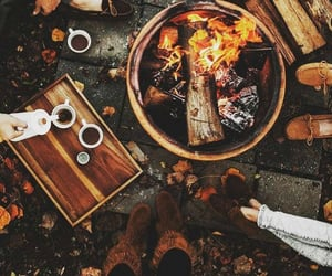 friends, autumn, and coffee image