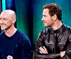 gif, michael fassbender, and james mcavoy image