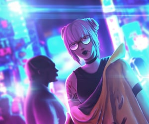 art, colorfull, and cyberpunk image