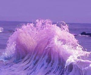 ocean, purple, and aesthetic image