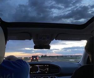paisaje, Road Trip, and sunset image