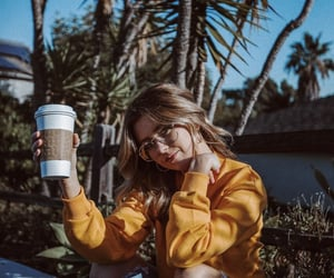 aesthetic, coffee, and hair image
