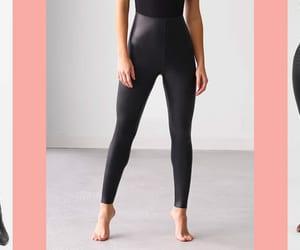 black leather leggings, leggings fashion, and leggingsprime image