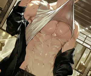 abs, handsome, and sweat image