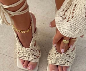 accessories, gold, and anklets image