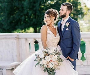 dress, robe, and wedding dress image