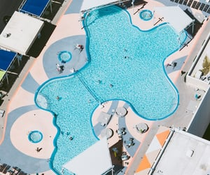 aerial view, pool, and resorts image