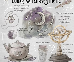 lunar, witch, and witch aesthetic image
