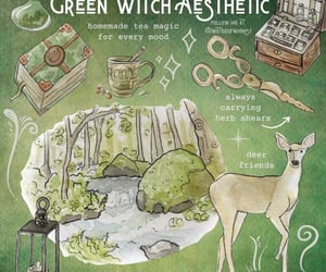 green, witch, and witch aesthetic image