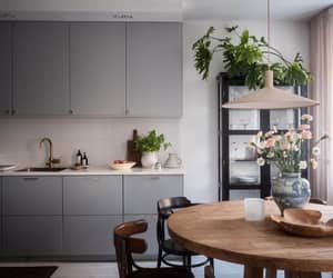 apartment, design, and flowers image