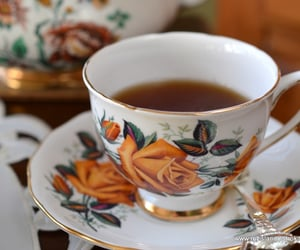 afternoon tea, autumn, and cottage image