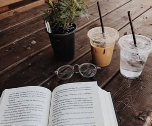 book, coffee, and reading image