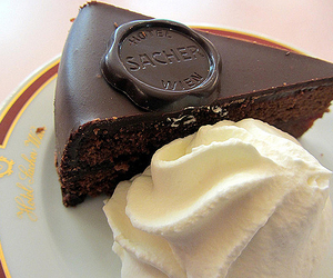 cream and brownies image