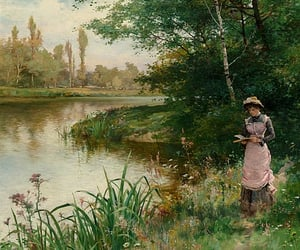 Alfred, the river, and oil on canvas image