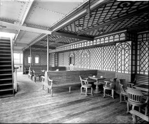 black and white, verandah, and aesthetic image