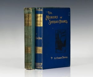 author, blue green, and sherlock holmes image