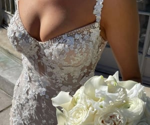 bride, married, and white image