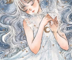 angel, Dream, and fairytale image