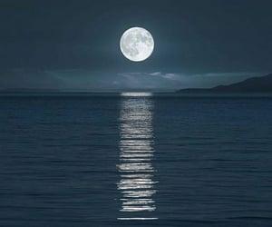 moon, ocean, and lua image