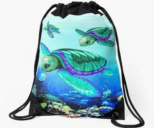backpacking, bluedarkart, and shopping image