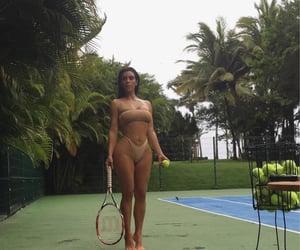 autumn, tennis, and bikini image