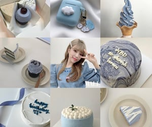 baby blue, blue, and kpop image