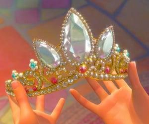crown, disney, and rapunzel image