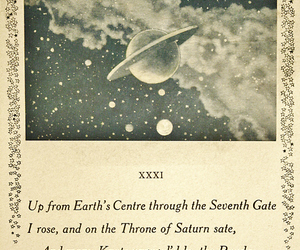 art, saturn, and space image