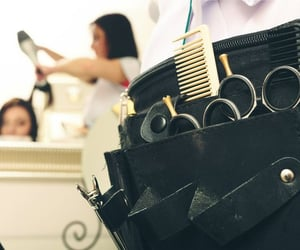 hair salon, hair tools, and hair kit image