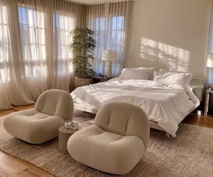 bedroom, beige, and decoration image