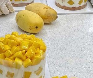 cake, mango, and summer image