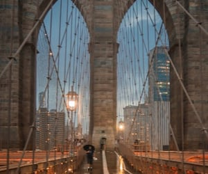 brooklyn bridge, cities, and cityscape image