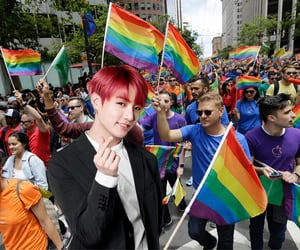 funny, gay, and kpop image