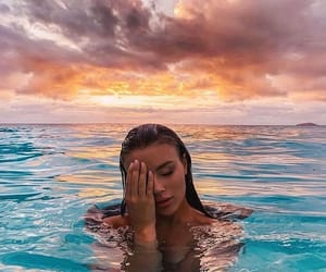 girl, summer, and ocean image