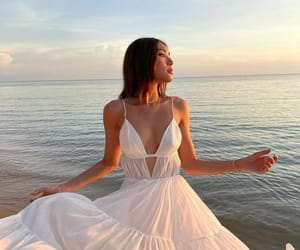 dress, style, and summer girl image