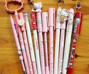 HelloKitty, pens, and stationary image