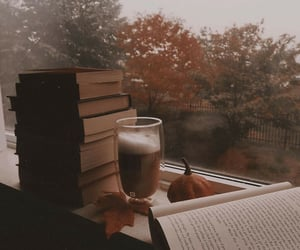 autumn, coffee, and house image