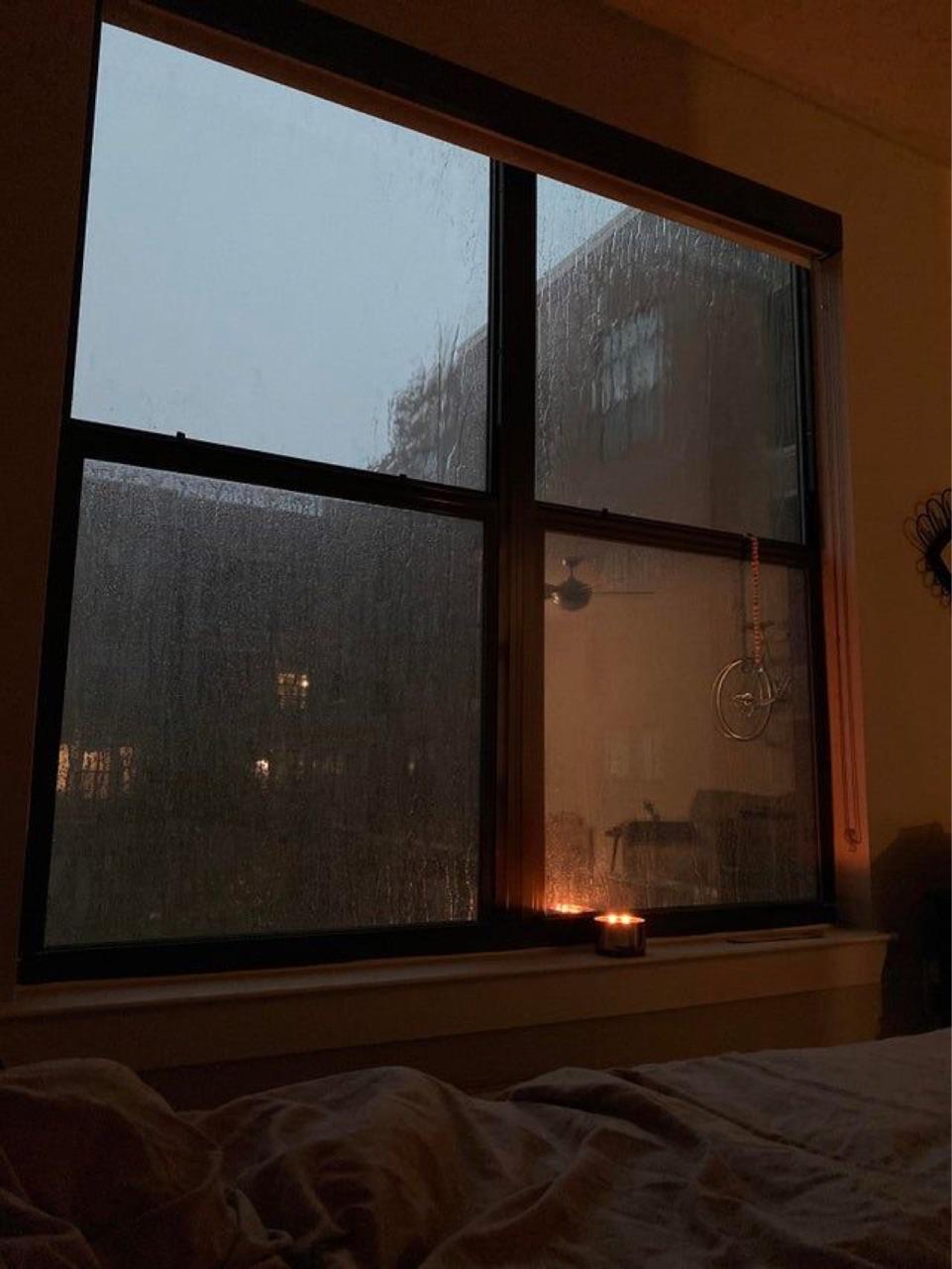rain, autumn, and candle image