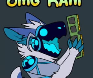 animated, art, and excited image