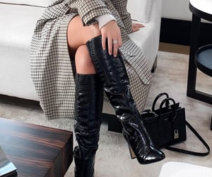 aesthetic, fashion, and high knee boots image
